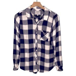 Rails Hunter Navy White Buffalo Plaid Button Down